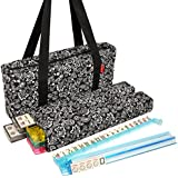 NEW! - American Mah Jongg Set - 166 Ivory Tiles with All-In-One Rack/Pushers, Black Paisley Soft Bag - Complete Mah Jong Case - Large Classic Mahjong Set Game