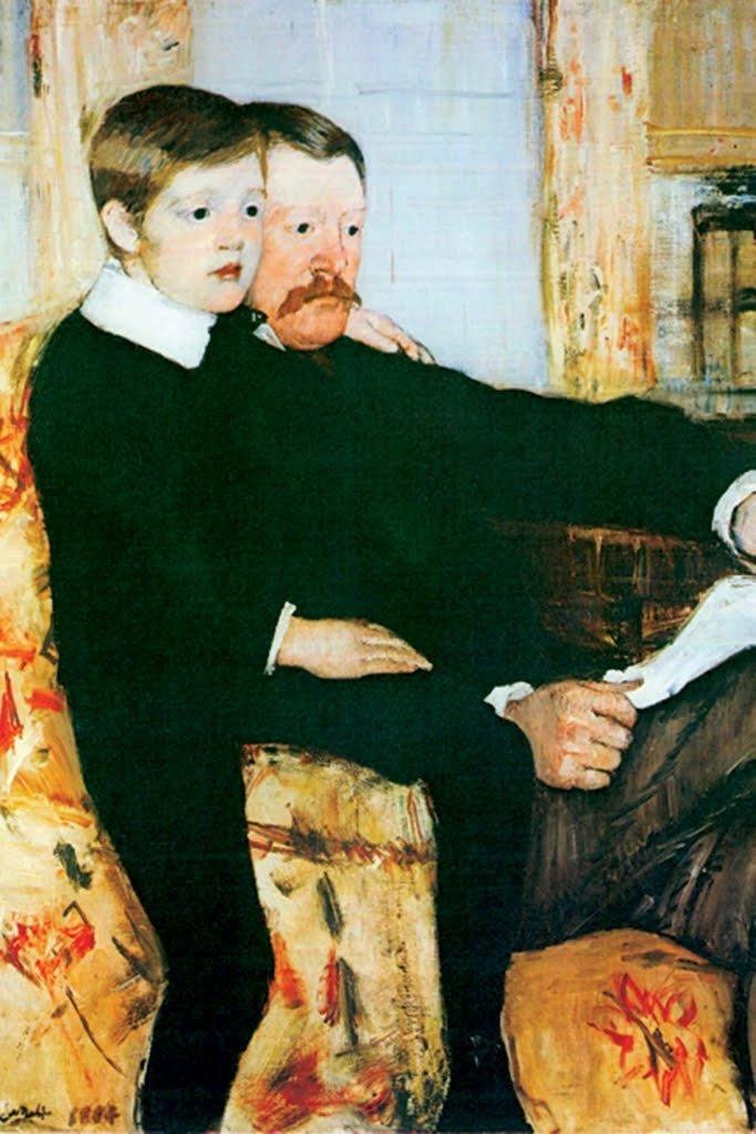 Alexander Cassatt and His Son Robert Kelso Cassatt by Mary Cassatt