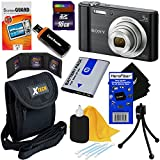 Sony Cyber-shot DSC-W800 20.1 MP Digital Camera with 5x Zoom and Full HD 720p Video (Black) - International Version + NP-BN1 Battery + 8pc 16GB Accessory Kit w/ HeroFiber® Ultra Gentle Cleaning Cloth