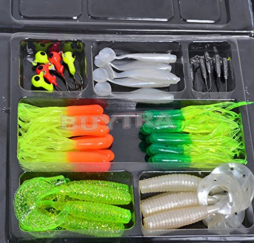 BESTIM INC New sale Fishing Lures Bait Tackle Simulation Suite Soft Small Jig Head Box Set