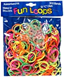 Fun Loops Brand 300 pack Rubberband Refills - Neon Rainbow