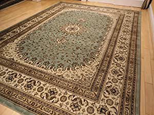Premium luxury blue 5x8 rugs traditional for Dining room rugs 5x7
