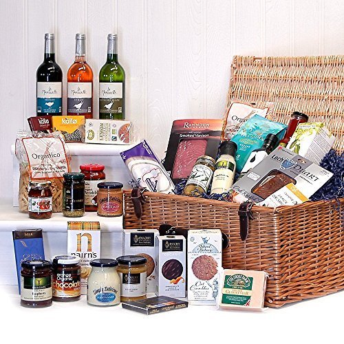 Organic hampers duchy originals chocolate food wine gift for Luxury gifts for her