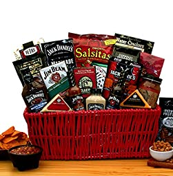 Premium BBQ Gift - Jim Beam & Jack Daniels Gourmet Grilling Gift Basket -Great Holiday, Birthday, or Father\'s Day Gift Idea