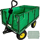 TecTake Chariot de transport max. 550kg + bâche + panier metal