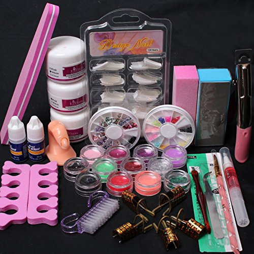 us-seller-24-in-1-combo-set-professional-diy-nail-art-decorations-kit-brush-buffer-acrylic-glitter-p