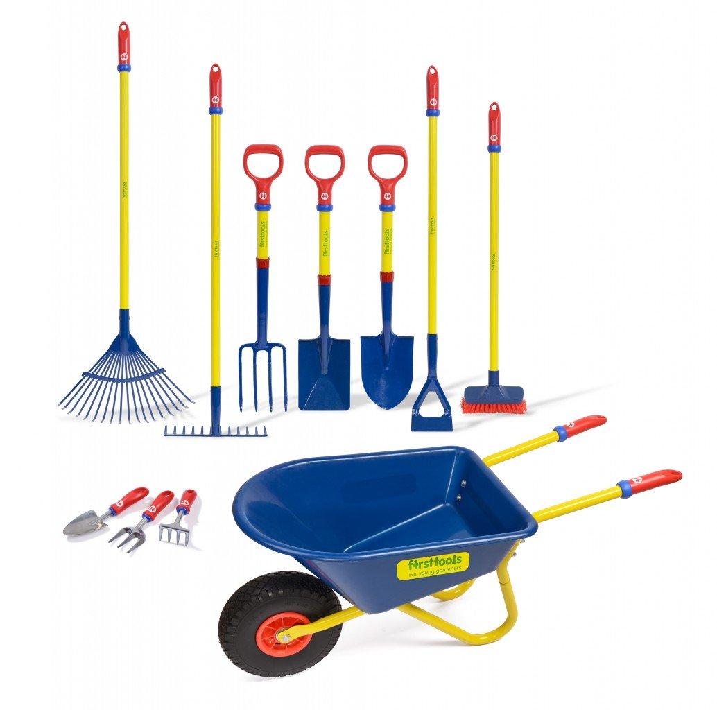 TOLO Garten Komplett Set für Kinder – 11tlg. Set für fast alle Gartenarbeiten (Geräte: Stahlrohrrahmen + lackierter online bestellen