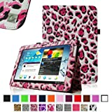 Fintie Slim Fit Folio Case Cover for Samsung Galaxy Tab 2 10.1 inch Tablet - Leopard Magenta