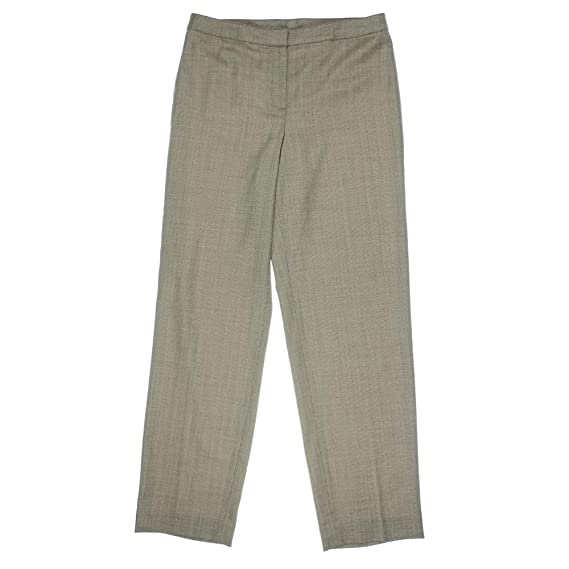 St John Womens Wool Herringbone Dress Pants
