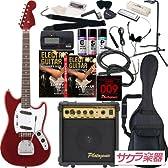 Photogenic フォトジェニック エレキギター ムスタングタイプ MG-200/MRD サクラ楽器オリジナル 初心者入門20点セット