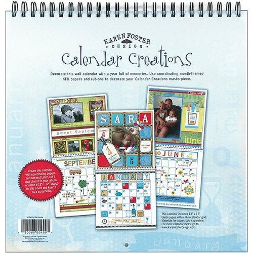 Blank Wall Calendar Scrapbook - 12x12