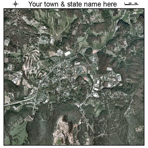 Aerial Photography Map of Blairsville, Georgia