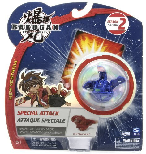 "Bakugan Battle Brawlers Special Attack Season 2: Spin Dragonoid (Aquos - Blue) - ""NOT"" Randomly Picked, As Shown In the Picture! - 1"
