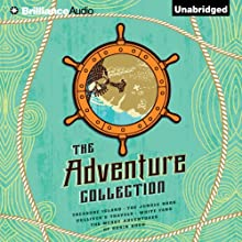 The Adventure Collection: Treasure Island, The Jungle Book, Gulliver's Travels, White Fang, The Merry Adventures of Robin | Livre audio Auteur(s) : Jonathan Swift, Jack London, Rudyard Kipling, Howard Pyle, Robert Louis Stevenson Narrateur(s) : Simon Vance, Michael Page, Buck Schirner