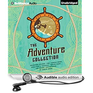 The Adventure Collection: Treasure Island, The Jungle Book, Gulliver's Travels, White Fang, The Merry Adventures of Robin (Unabridged)