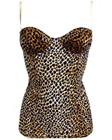 "DOLCE & GABBANA D&G ""Clean Cut Leopard 1O"" femme camisole animal (marron/carnation)"