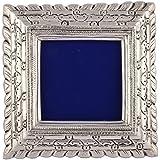 KJ Handicraft Wooden Photo Frame (20 Cm X 3 Cm X 20 Cm, Silver, KJ033)