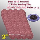 "MTP TM 40x Mix 40/80/120/240 Grits 2"" Roloc Type R Sanding Abrasive Disc Roll Lock"