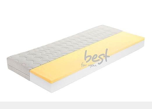 Best For You Matratze von 60x120x15 cm bis 200x200x15 cm VISCO Luxus BESONDERE Thermoelastische Viskose- & Kaltschaummatratze mit Reißverschluss und JERSEY ABSOLUTE TOP QUALITÄT & ANGEBOT (180x200)