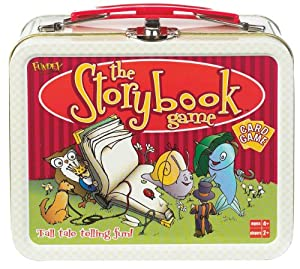 POOF-Slinky 0X4266 Ideal The Storybook Memory Card Game with Mini Collectible Tin Lunch Box Storage Container, 54-Colorfully Illustrated Cards