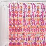 InterDesign Peva 123 Shower Curtain, 72 by 72-Inch, Pink/Orange