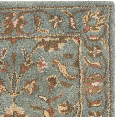 Safavieh Heritage Collection HG969A Handmade Blue Wool Area Rug, 3 feet by 5 feet (3' x 5')