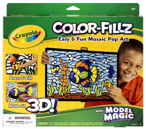 Crayola Model Magic Color Fillz Pop-Art 3-D