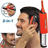 2 in 1 Hair Trimmer Switchblade Shaver Grooming Kit with LED Light Perfect Gift For Men