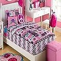Zipit Bedding Set, Rock Princess - Twin - Zip-Up Your Sheets and Comforter Like a Sleeping Bag! As