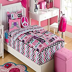 Zipit Bedding Set, Rock Princess - Twin - Zip-Up Your Sheets and Comforter Like a Sleeping Bag! As