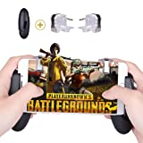 Qoosea Compatible with PUBG Mobile Controller Mobile Game Controller Sensitive Shoot and Aim Keys L1R1 Shooter Handle Grip Controller for Android iOS Joysticks PUBG Knives Out Rules of Survival (Color: Transparent)