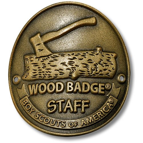 Wood Badge Staff Hiking Stick Medallion