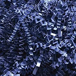 1 LB. Crinkle Shred Paper (Navy Blue) by Pick.Click.Done.