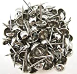 "Springfield Leather Companys Natural French Nail Tacks Silver Plated 3/4"" 100pk"