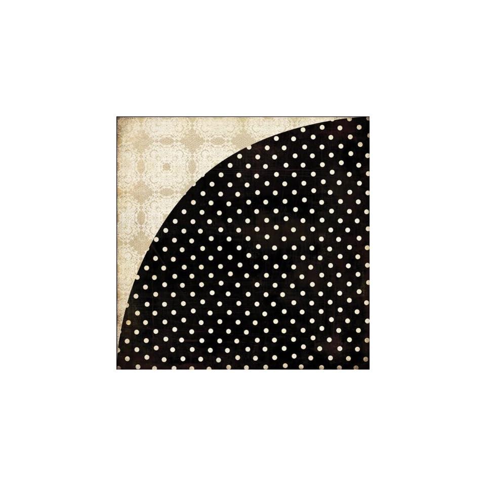 Little Black Dress Double Sided Cardstock 12X12 Black & White