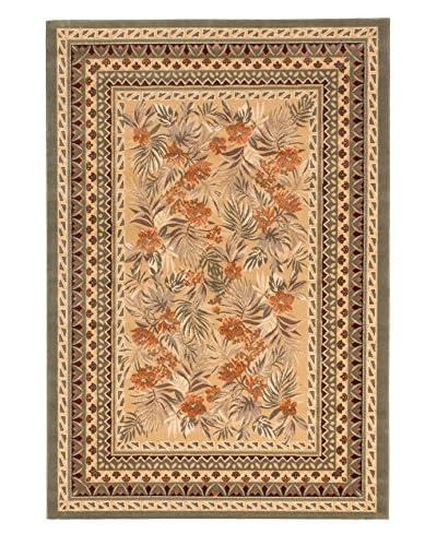 Royale Wool-Blend Rug, Copper/Khaki, 5' 3 x 7' 8