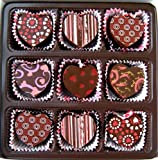 Heart Shaped Truffle Assortment – 9 Chocolate Truffles for Valentine's Day, Mother's Day