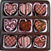 Heart Shaped Truffle Assortment - 9 Chocolate Truffles for Valentine's Day, Mother's Day