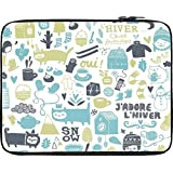 """Snoogg Lifestyle Pattern 2562 15"""" Inch To 15.5"""" Inch To 15.6"""" Inch Laptop Netbook Notebook Slipcase Sleeve Soft..."""