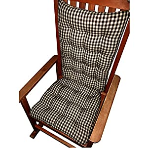 Amazon.com - Rocking Chair Cushions - Checkers Black & Cream ...