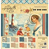 Graphic 45 By The Sea 12x12 Nautical Scrapbook Paper Pad