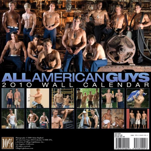 All American Guys 2010 Calendar