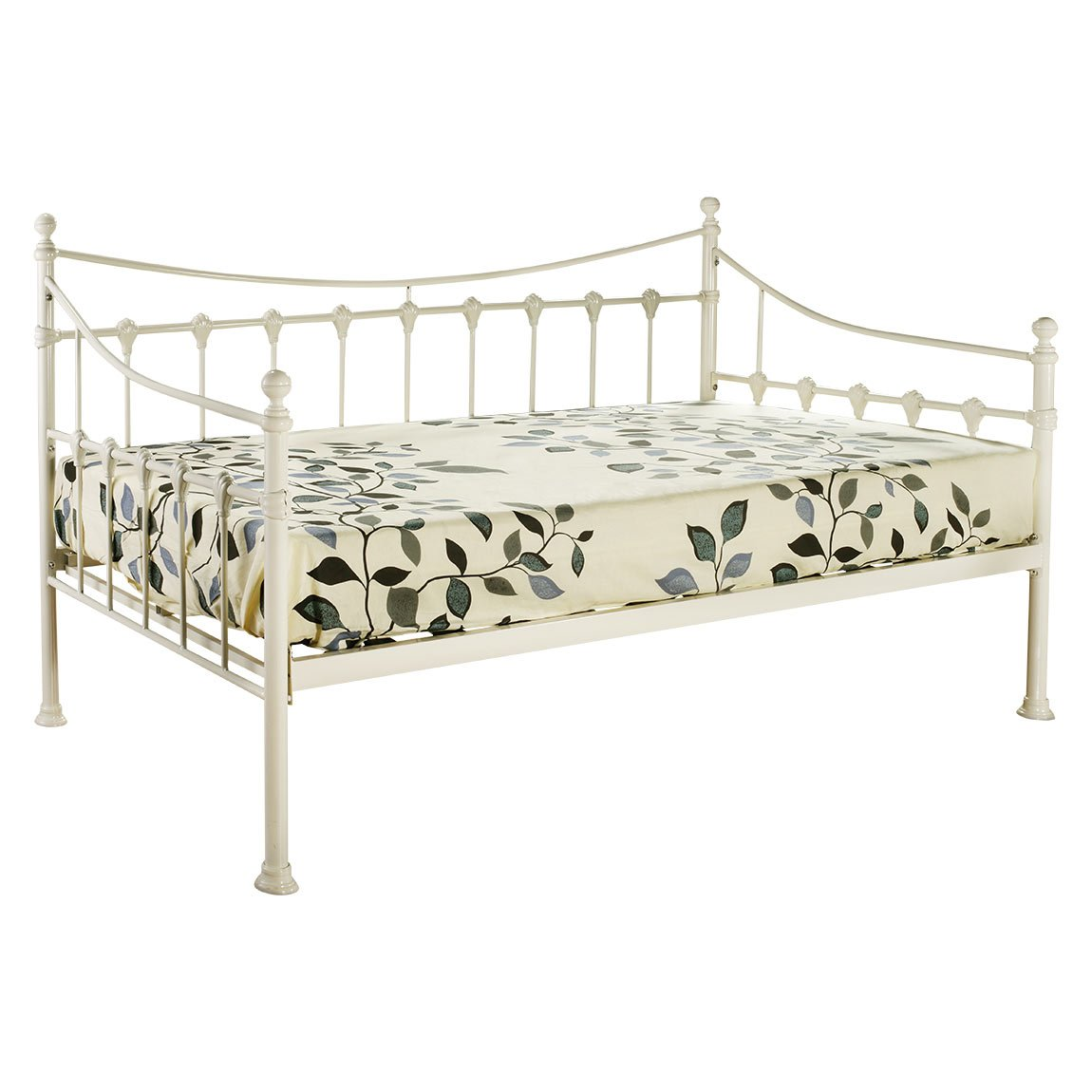 CHANTILLY 3FT SINGLE FRENCH STYLE METAL DAY BED IN IVORY WHITE       reviews and more information