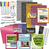Cricut Tools Bundle Beginner Cricut Guide, Vinyl Pack, Basic Tools and Cricut Explore Fine Point Pens (Color: Multi-color)