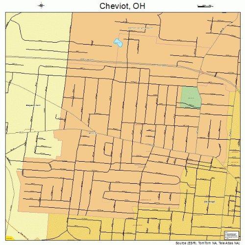 Street & Road Map of Cheviot, Ohio