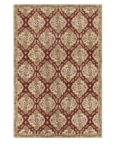 Filament Evia Hand-Tufted Wool Rug, Burgundy, 5' x 7' 6