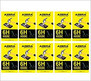 BRAND AZERA (TM) Premium Fiber Tempered unbreakable Glass Anti-scratch Guard For LYF flame-2 (Pack of 10) (REUSABLE, ULTRA CLEAR, REAL SHOCK PROOF, UNBREAKABLE)