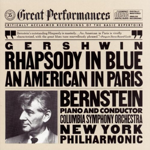 Gershwin: Rhapsody In Blue An American In Paris by George Gershwin,&#32;Leonard Bernstein,&#32;New York Philharmonic Orchestra and Columbia Symphony Orchestra