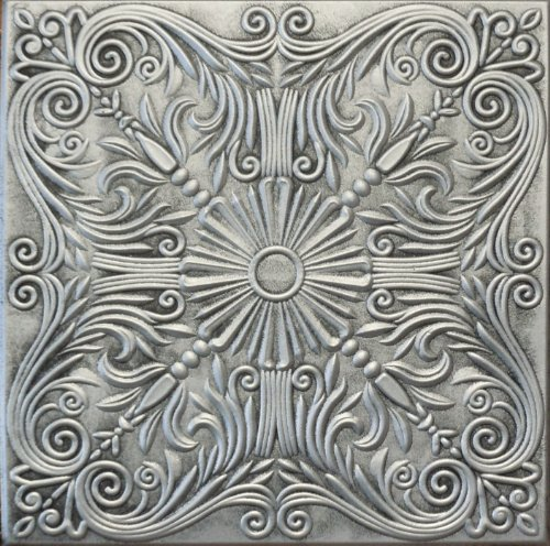 R39as 20 X 20 Antique Silver Tin Looking Finish Texture