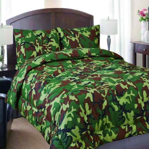 Full Size 7 Piece Military Camouflage Camo Print